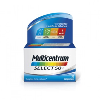 Multicentrum select 50 + 30 comprimidos